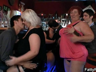 Dirty women enjoying hardcore fucking with much younger dudes on camera